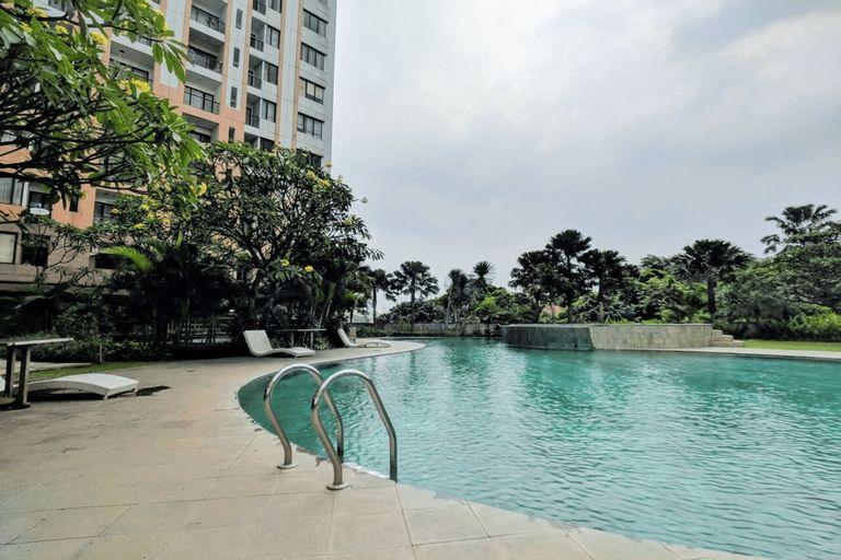 Homey 2BR Cervino Village Apartment By Travelio, South Jakarta