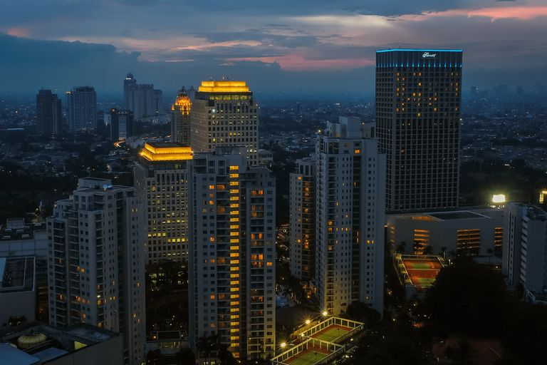 Fantastic View FX Sudirman 2 BR Apartment By Travelio, South Jakarta