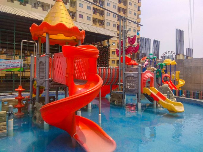 Fully Furnished 2BR at Teluk Intan Apartment By Travelio, North Jakarta