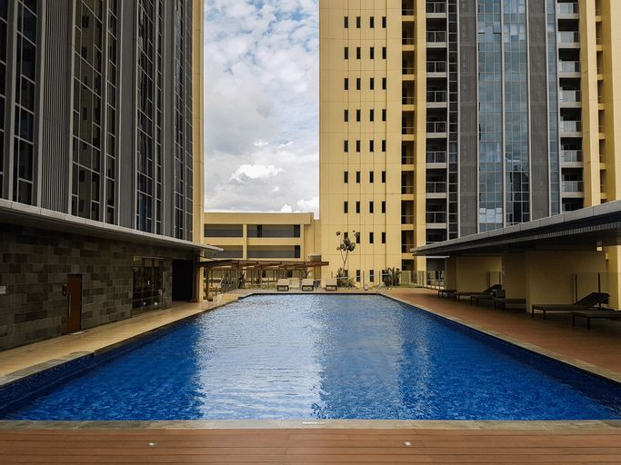 Elegant Best View 1BR Branz Apartment By Travelio, Tangerang Selatan