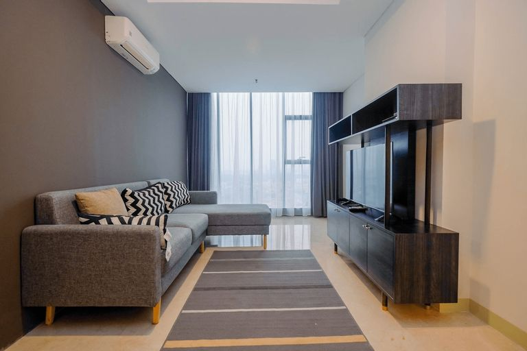 Modern and Spacious 2BR L'Avenue Apartment By Travelio, South Jakarta