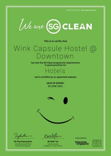 Wink Capsule Hostel @ Downtown, Singapore