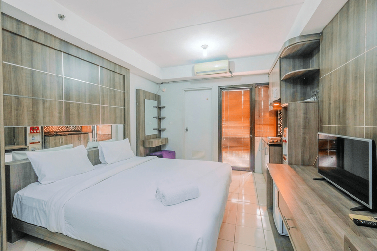 Elegant Studio Apartment @ Metropark Condominium Jababeka By Travelio, Cikarang