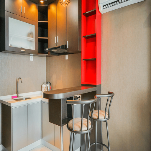 Modern Design 1BR Apartment at Brooklyn Alam Sutera By Travelio, Tangerang Selatan