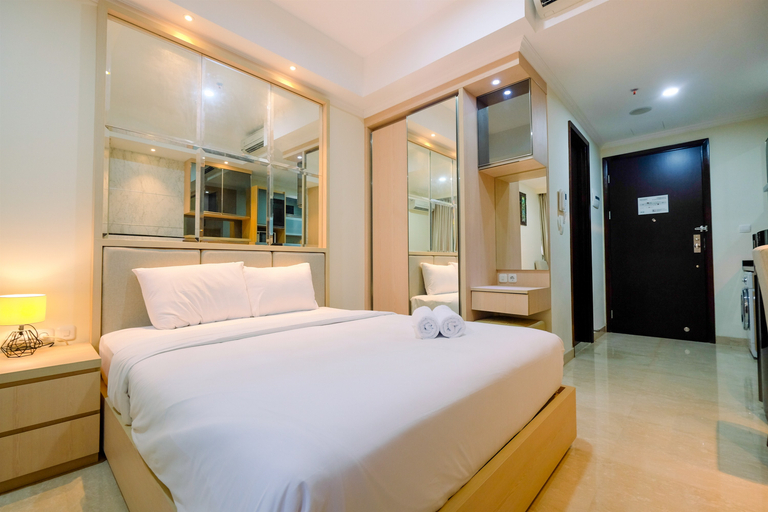 Minimalist with City View Studio @ Menteng Park Apartment By Travelio, Jakarta Pusat