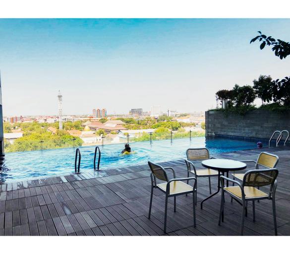 Best View 2BR Apartment at Tamansari Papilio By Travelio, Surabaya