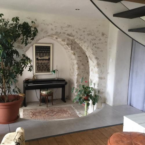 In the heart of artists's house, Lot-et-Garonne
