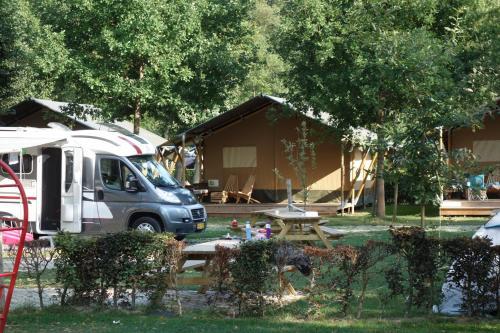 Safari tent at Camping Val d'Or, Wiltz