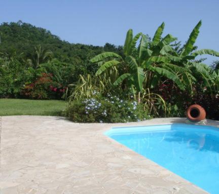 Bungalow et piscine vue mer, Le Diamant