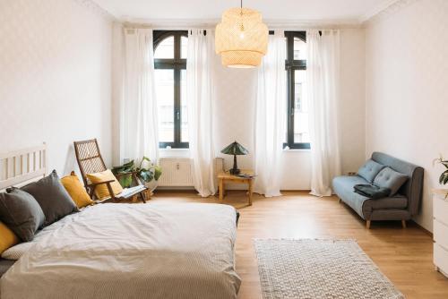 Helle Wohnung im Zentrum, Netflix und Großer Kuche, Magdeburg