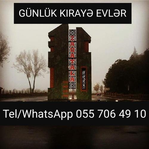 Zaqatala Gunluk Kirayə Ev, Zaqatala