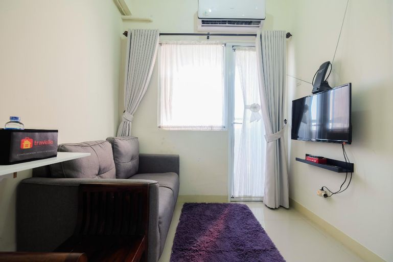 Tranquil 2BR @ Green Pramuka Apartment By Travelio, Central Jakarta