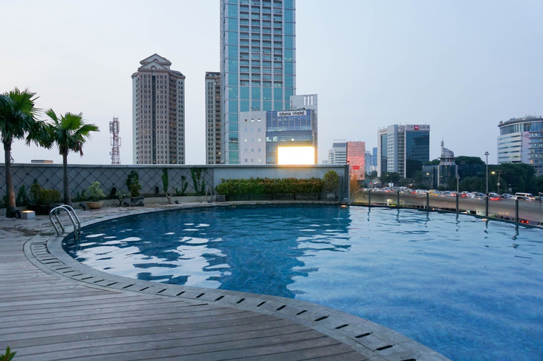 Tranquil 1BR GP Plaza Apartment By Travelio, Central Jakarta