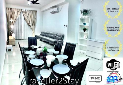 NEW Condo!!![Traveller2Stay] 3Room2Bath 7++Pax 10Min To Reach CIQ KSL MidValley Paradigm SuteraMall , Johor Bahru