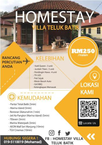 Homestay Villa Teluk Batik, Manjung