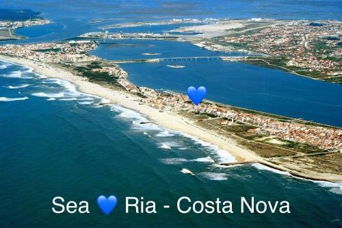 Sea Ria - Downtown Costa Nova beach/River, Ílhavo
