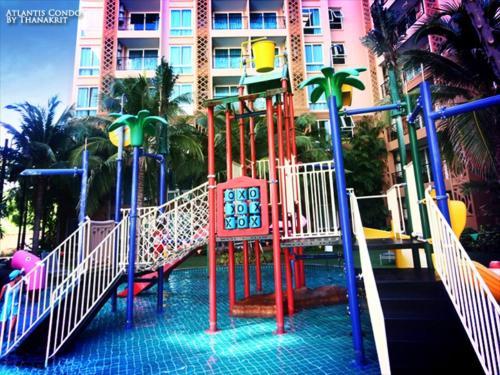 网红水系亚特兰蒂斯公寓配有水系儿童泳池, Pattaya