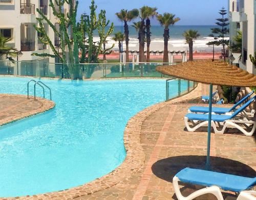 Apartment with one bedroom in Tamaris with wonderful sea view shared pool enclosed garden 250 m from, Casablanca