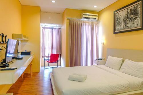 Minimalist Style 1BR Apartment at Tamansari Semanggi By Travelio, South Jakarta