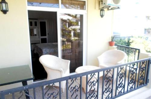 Studio in Trou aux Biches with wonderful city view furnished balcony and WiFi,