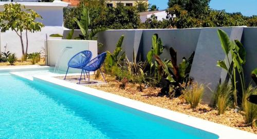 House with 7 bedrooms in Estoi with wonderful sea view shared pool enclosed garden 18 km from the be, Faro