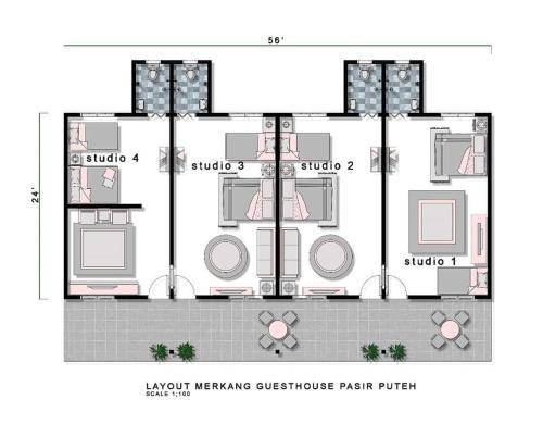 Merkang Guesthouse Pasir Puteh, Pasir Putih