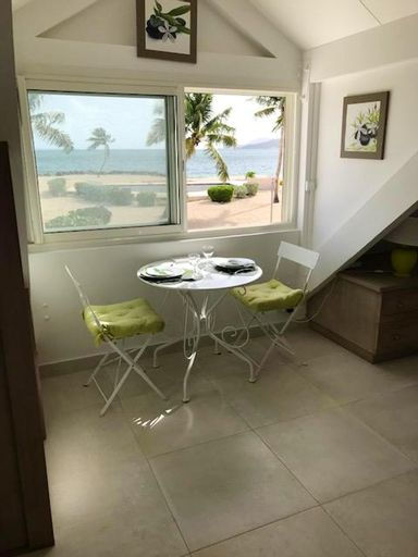 Studio in Sandy Ground, With Wonderful sea View, Pool Access, Enclosed Garden - 50 m From the Beach,