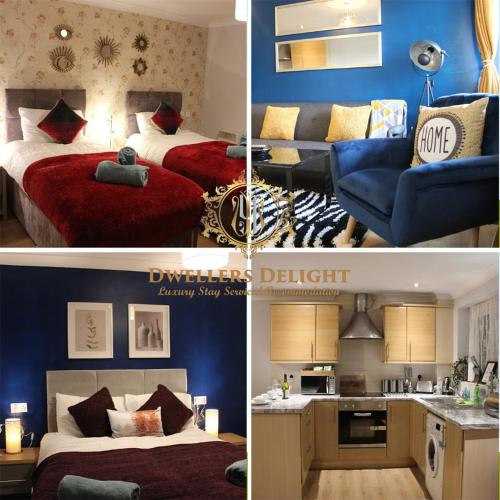 Grays - Dwellers Delight Luxury Stay Serviced Accommodation, 2 Bedroom Apartment, Upto 5 Guests , Fr, Thurrock