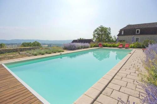 House with 5 bedrooms in Fons with wonderful mountain view private pool furnished garden, Lot