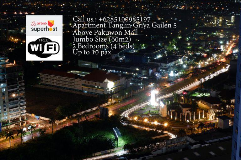 2BRApt Tanglin Jumbo(60m, 9pax) Pakuwon Mall,  GG5, Surabaya