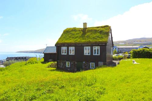 Traditional Faroese house in Torshavns city center, Tórshavn