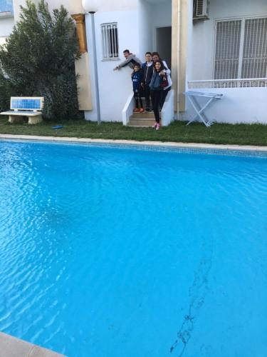 Apartment with 2 bedrooms in Hammamet with wonderful sea view shared pool balcony 100 m from the bea, Hammamet