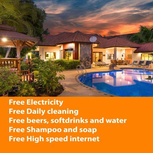 Villa Pattaya Hill, Free Electric, minutes from Beach and Pattaya, Bang Lamung