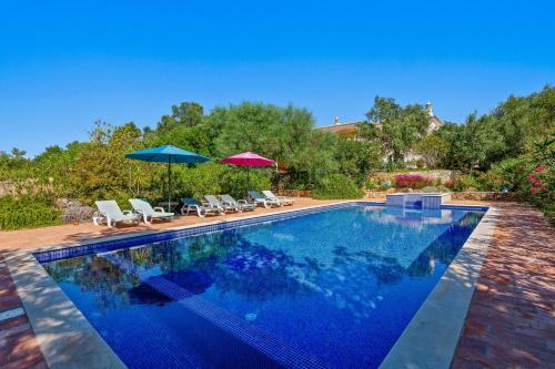 Villa with 4 bedrooms in Tunes with wonderful sea view private pool enclosed garden 7 km from the be, Silves