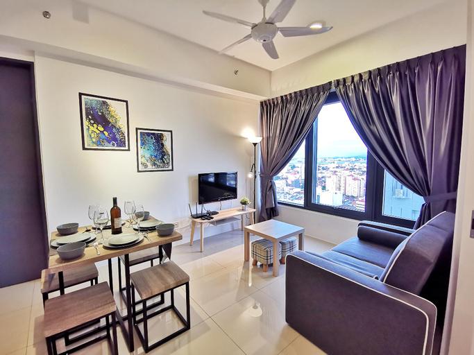 Exquisite 2 Bedroom CityView Suite 3@Tropicana218, Pulau Penang