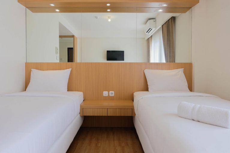 Twin Bed Studio Room Annora Living Apt By Travelio, Tangerang