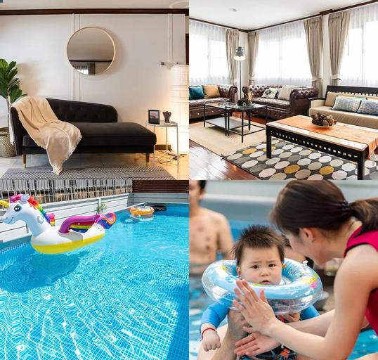pool villa 4BR350m Subway Train Market,JJ Market, Chatuchak