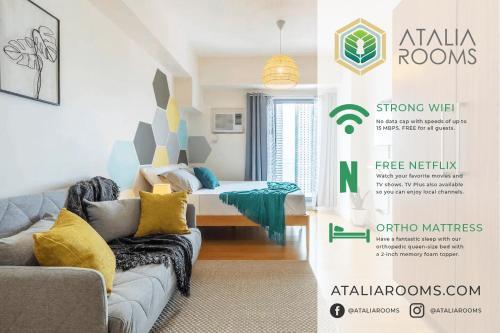 Atalia Rooms - Scandinavian Inspired Studio With Manila Bay View, Manila