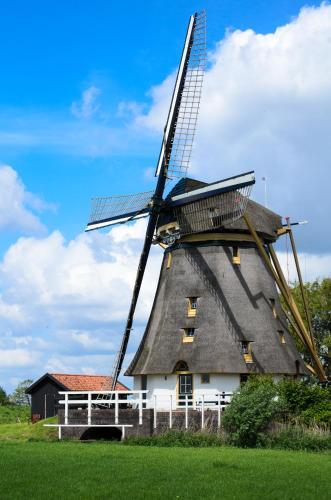 Mondriaanmolen, a real Windmill close to Amsterdam, Abcoude