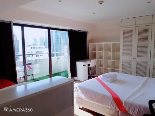 cozy apartment central bangkok 27th floor beautifull balcony, Ratchathewi