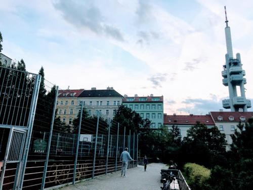 Modern Futuristic Apartment / Zizkov TV Tower + Metro Station, Praha 3