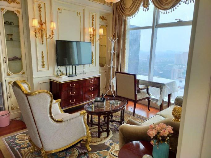 JS金石国际 34楼 高层行政楼大床房 景观房 远眺长江狼山, Nantong