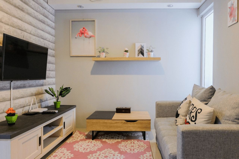 Elegant and Cozy 1BR Apartment at Bintaro Plaza Residence By Travelio, Tangerang Selatan