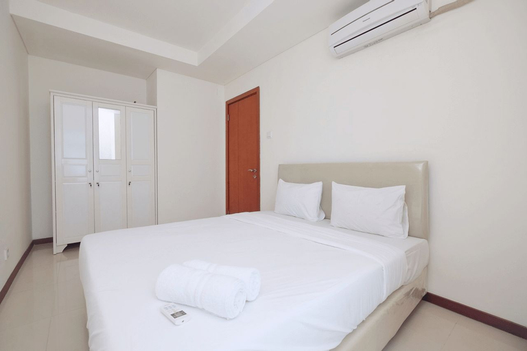Homey 1BR with Sea View Green Bay Apartment By Travelio, North Jakarta
