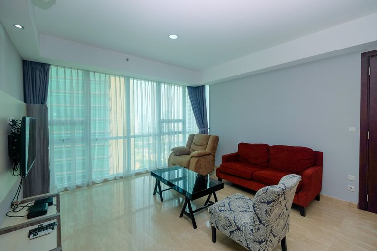 Gorgeous 2BR at Kemang Village Apartment By Travelio, South Jakarta