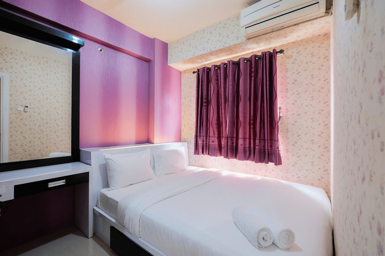 Homey 1BR with Spacious Living Room and Sofa Bed Green Pramuka Apartment By Travelio, Central Jakarta