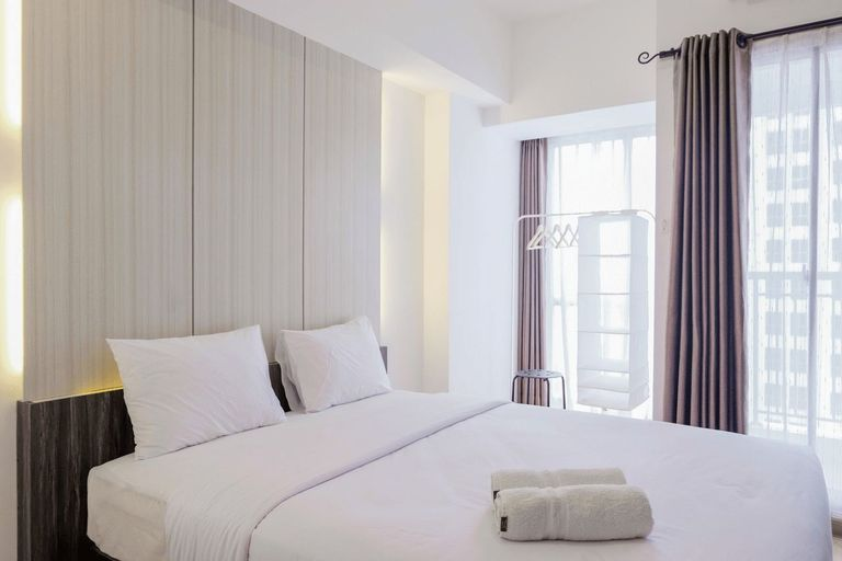 Fully Parquette City View Studio Apartment @ M-Town Residence By Travelio, Tangerang
