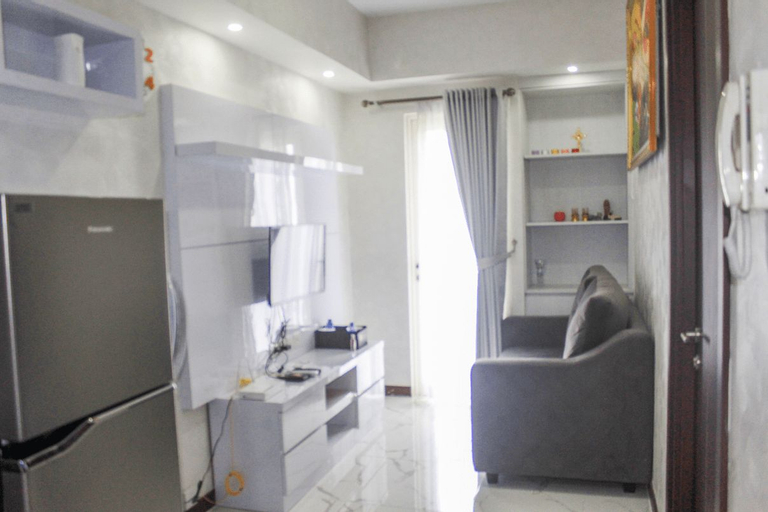 Minimalist & Modern 1BR Apartment at Scientia Residence By Travelio, Tangerang