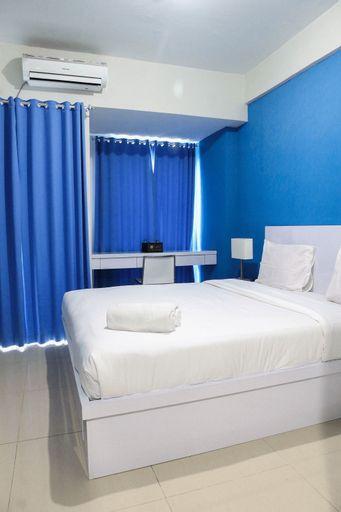 Minimalist Blue Studio Apartment at Grand Dhika City By Travelio, Bekasi