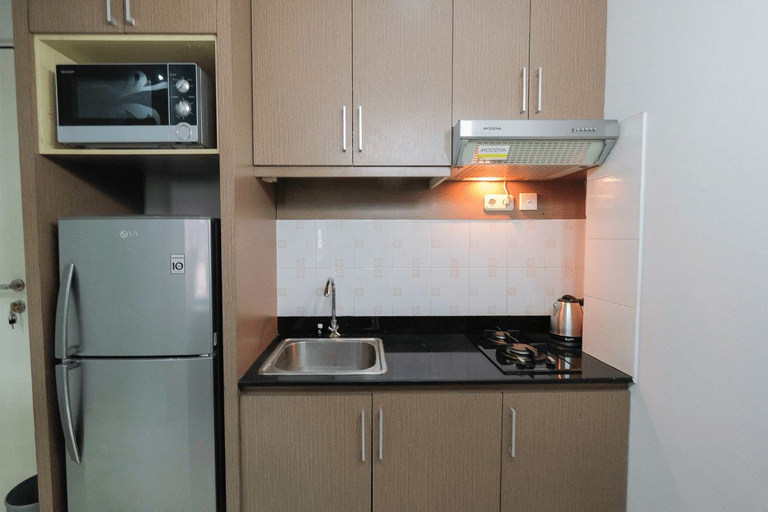 2BR with Sofa Bed Cervino Tebet Apartment By Travelio, South Jakarta